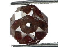 Natural Loose Diamond Round Bead Brown Color I3 Clarity 7.00 X 5.17 MM 1.99 Ct KR920
