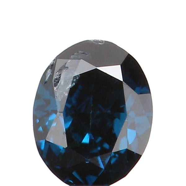 Natural Loose Diamond Oval Blue Color SI1 Clarity 3.20 MM 0.11 Ct KR924