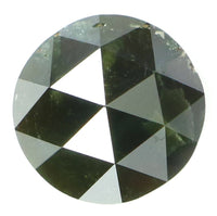 Natural Loose Diamond Round Rose Cut Green Color I3 Clarity 7.20 MM 1.78 Ct L5769