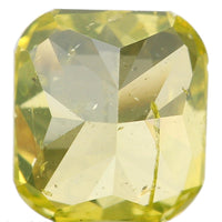 Natural Loose Diamond Cushion Greenish Yellow Color I1 Clarity 5.06 MM 0.62 Ct L6440