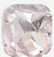 Natural Loose Diamond Cushion Light Brown Pink Color I2 Clarity 2.80 MM 0.16 Ct KR965