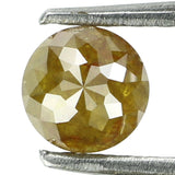 Natural Loose Diamond Round Rose Cut Greenish Yellow Color I3 Clarity 4.90 MM 0.67 Ct KR1362