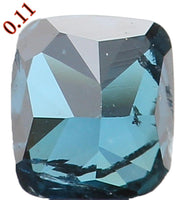 Natural Loose Diamond Cushion Blue Color I1 Clarity 2.80 MM 0.11 Ct KR983