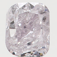 Natural Loose Diamond Cushion Faint Pink Color I1 Clarity 2.60 MM 0.11 Ct L5955
