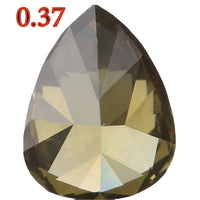 Natural Loose Diamond Pear Green Color VS1 Clarity 5.40 MM 0.37 Ct  L5135