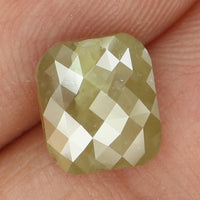 Natural Loose Diamond Cushion Green Grey Color I3 Clarity 8.00 MM 1.97 Ct KR116