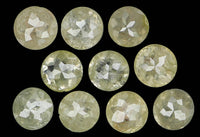 Natural Loose Diamond Round Rose Cut Grey Color I3 Clarity 10 Pcs 1.54 Ct KR122