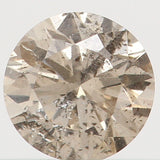 Natural Loose Diamond Round Brown Color I1 Clarity 3.50 MM 0.17 Ct L4398