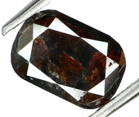 1.46 Ct Natural Loose Diamond Oval Brown Grey Color I3 Clarity 8.20 MM L5901