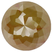 Natural Loose Diamond Round Rose Cut Yellow Color I3 Clarity 5.80 MM 1.18 Ct L5216