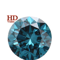 Natural Loose Diamond Round Blue Color SI1 Clarity 4.20 MM 0.33 Ct L5887