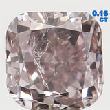 Natural Loose Diamond Cushion Brown Color SI2 Clarity 2.80 MM 0.16 Ct L4456