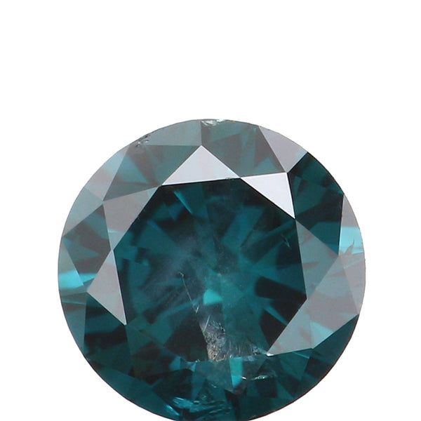 Natural Loose Diamond Round Blue Color I2 Clarity 4.22 MM 0.30 Ct KR183