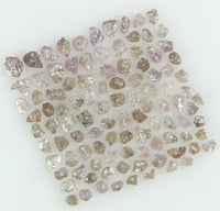 Natural Loose Diamond Rough Bead Pink Color I3 Clarity 1.00 to 100.00 Ct Q87