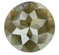 Natural Loose Diamond Round Rose Cut Fancy Color I1 Clarity 4.55 MM 0.58 Ct KR724