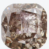 Natural Loose Diamond Cushion Fancy Blackish White Color I1 Clarity 3.80 MM 0.42 Ct L5329