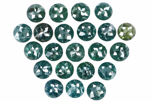 Natural Loose Diamond Round Rose Cut Blue Color I3 Clarity 22 Pcs 2.29 Ct L5394