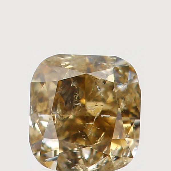 Natural Loose Diamond Cushion Greenish Yellow Color I2 Clarity 2.80 MM 0.15 Ct KR772