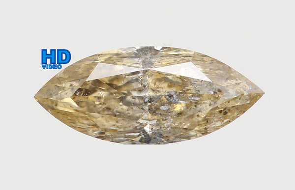 Natural Loose Diamond Marquise Light Yellow Color I2 Clarity 7.20 MM 0.33 Ct KR773