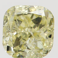 Natural Loose Diamond Cushion Yellow Color I1 Clarity 2.90 MM 0.15 Ct L5491