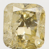 Natural Loose Diamond Cushion Yellow Color I1 Clarity 3.40 MM 0.22 Ct L5597