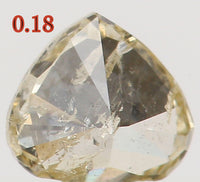 Natural Loose Diamond Heart Yellow Color I1 Clarity 3.80 MM 0.18 Ct L5529