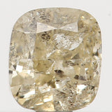 Natural Loose Diamond Cushion Yellow Color I2 Clarity 3.40 MM 0.22 Ct L5631