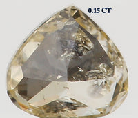 Natural Loose Diamond Heart Light Yellow Color I1 Clarity 3.40 MM 0.15 Ct KR872