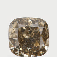 Natural Loose Diamond Cushion Greenish Brown Color I1 Clarity 3.00 MM 0.17 Ct L5662
