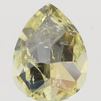 Natural Loose Diamond Pear Yellow Color I2 Clarity 4.20 MM 0.26 Ct KR895