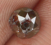 Natural Loose Diamond Round Facet Bead Brown Color I3 Clarity 5.50 MM 1.21 Ct KR902