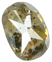 Natural Loose Diamond Oval Brown Green Color I1 Clarity 5.13 MM 0.40 Ct KR917
