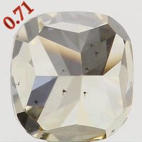Natural Loose Diamond Cushion Brownish Yellow Color SI2 Clarity 4.90 MM 0.71 Ct L5778