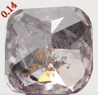 Natural Loose Diamond Cushion Blackish Pink Color I1 Clarity 2.70 MM 0.14 Ct KR936