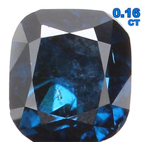Natural Loose Diamond Cushion Blue Color SI2 Clarity 3.10 MM 0.16 Ct L5743