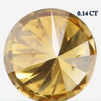 Natural Loose Diamond Round Fancy Dark Yellow Color I1 Clarity 3.20 MM 0.14 Ct L6434