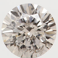 Natural Loose Diamond Round Brown Color I1 Clarity 3.80 MM 0.20 Ct KR151