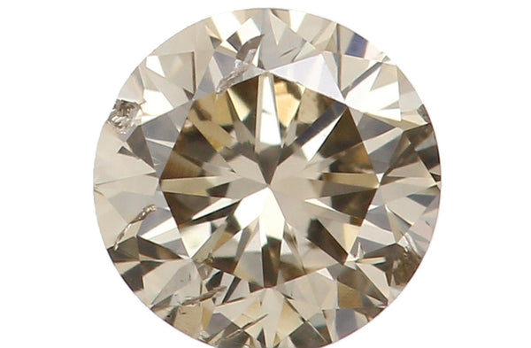 Natural Loose Diamond Round Brown Color I1 Clarity 3.60 MM 0.19 Ct L5442