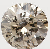Natural Loose Diamond Round Brown Color I2 Clarity 3.80 MM 0.21 Ct KR801