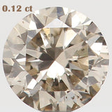 Natural Loose Diamond Round Brown Color SI2 Clarity 3.10 MM 0.12 Ct L5463