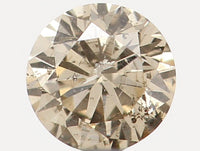 Natural Loose Diamond Round Brown Color I1 Clarity 3.00 MM 0.10 Ct L5462