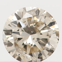 Natural Loose Diamond Round Brown Color I1 Clarity 3.30 MM 0.14 Ct L5473