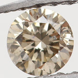 Natural Loose Diamond Round Brown Color I1 Clarity 2.90 MM 0.09 Ct L5466