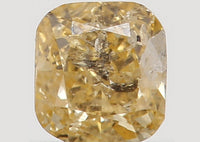 Natural Loose Diamond Cushion Golden Yellow Color I1 Clarity 2.90 MM 0.12 Ct L5602