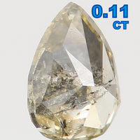 Natural Loose Diamond Pear Yellow Color I2 Clarity 3.70 MM 0.11 Ct L5506