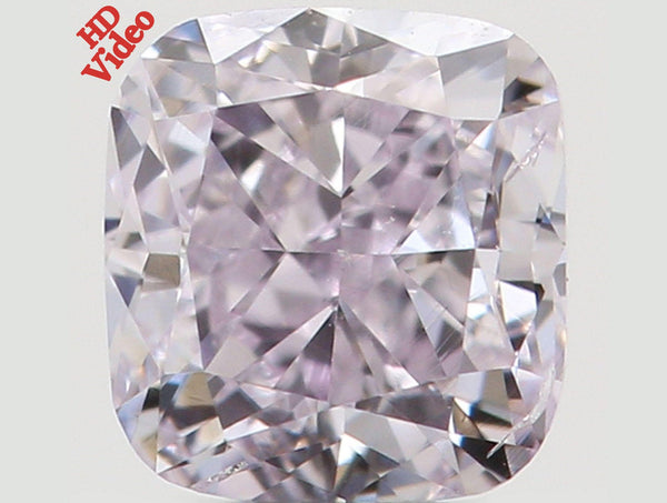 Natural Loose Diamond Cushion Fancy Pink Color SI1 Clarity 3.40 MM 0.31 Ct L5573