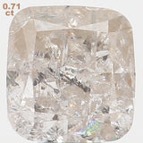Natural Loose Diamond Cushion Grey Color I1 Clarity 5.50 MM 0.71 Ct L5950
