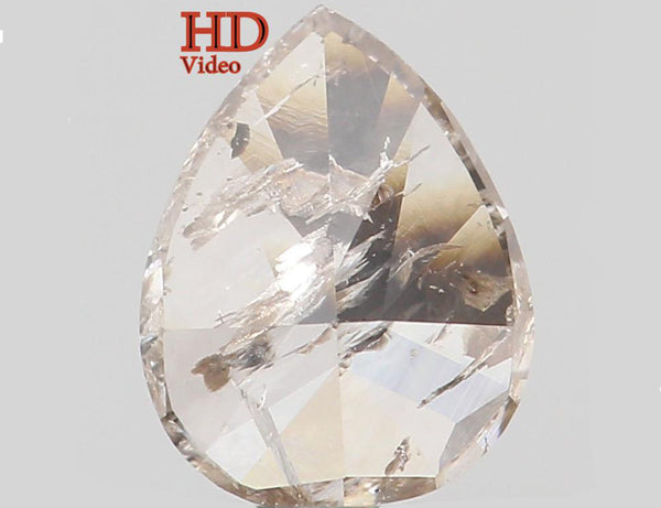 Natural Loose Diamond Pear Yellow Grey Color I2 Clarity 5.40 MM 0.36 Ct KR117