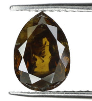 Natural Loose Diamond Pear Deep Fancy Color I1 Clarity 7.30 MM 0.90 Ct KR127