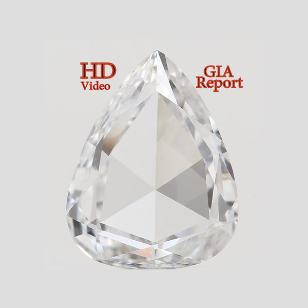 GIA CERTIFIED Natural Loose Diamonds Pear Rose Cut D Color Si2 Clarity 6.48 MM 0.46 Ct L3858